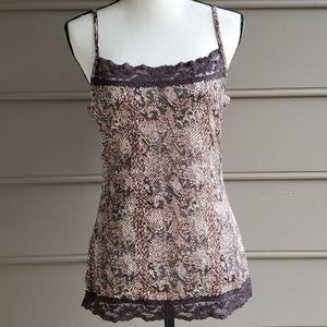 Brown Snakeskin Pattern Camisole